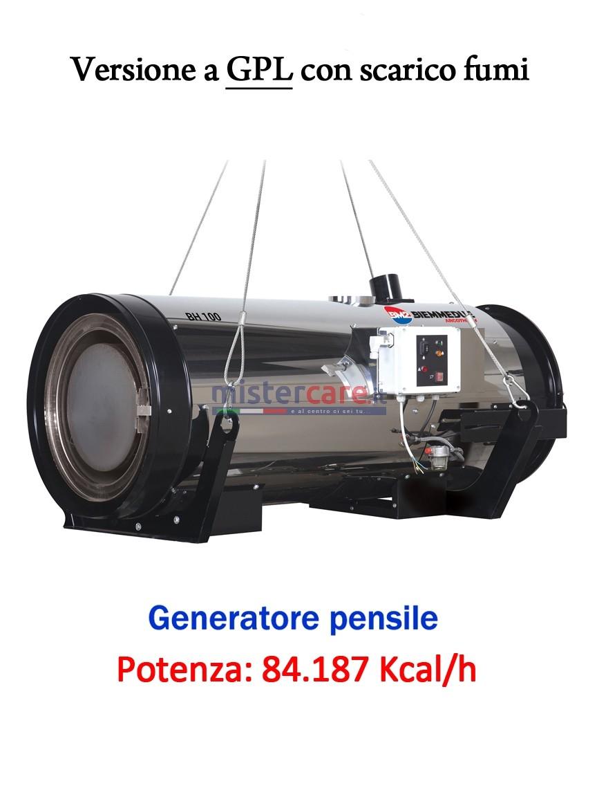 BM2 BH 100 GPL - Generatore d'aria calda pensile a combustione indiretta (GPL) - 84.187 Kcal/h