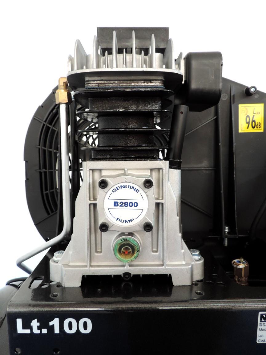 Gruppo pompante B2800 lubrificato ad olio, bicilindrico con corpo in ghisa
