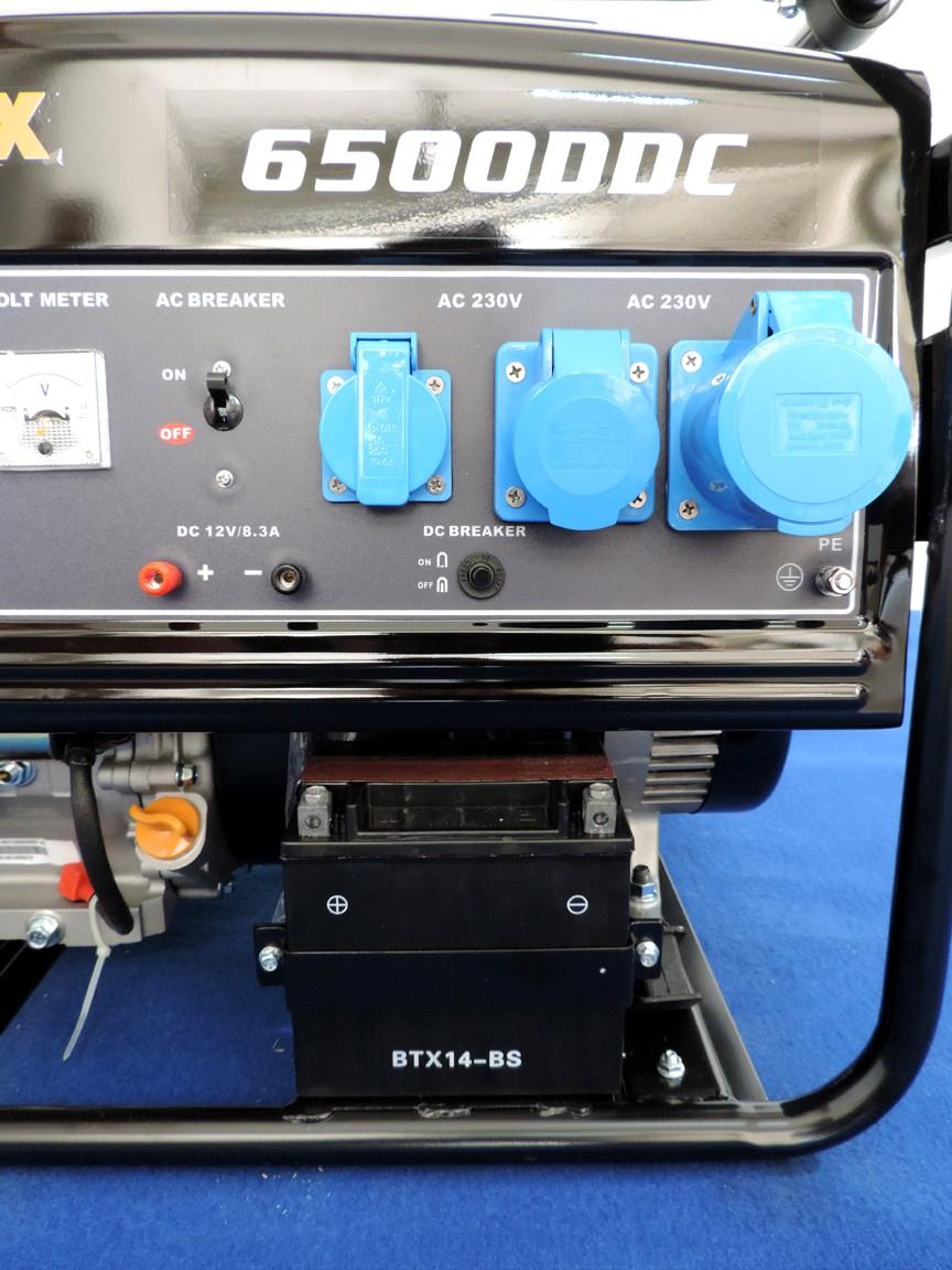 Quadro elettrico con 3 prese: 16 A Schuko, 16 A industriale, 32 A industriale