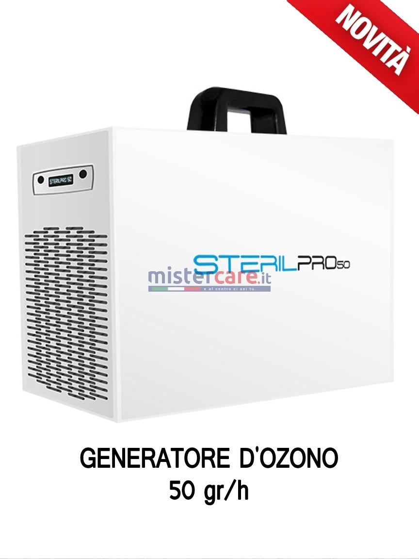 Sterilpro 50 - Generatore OZONO di aria sanificata / Inattivatore Virus / Degradazione odori / Abbattitore cariche batteriche (50 grammi/h)
