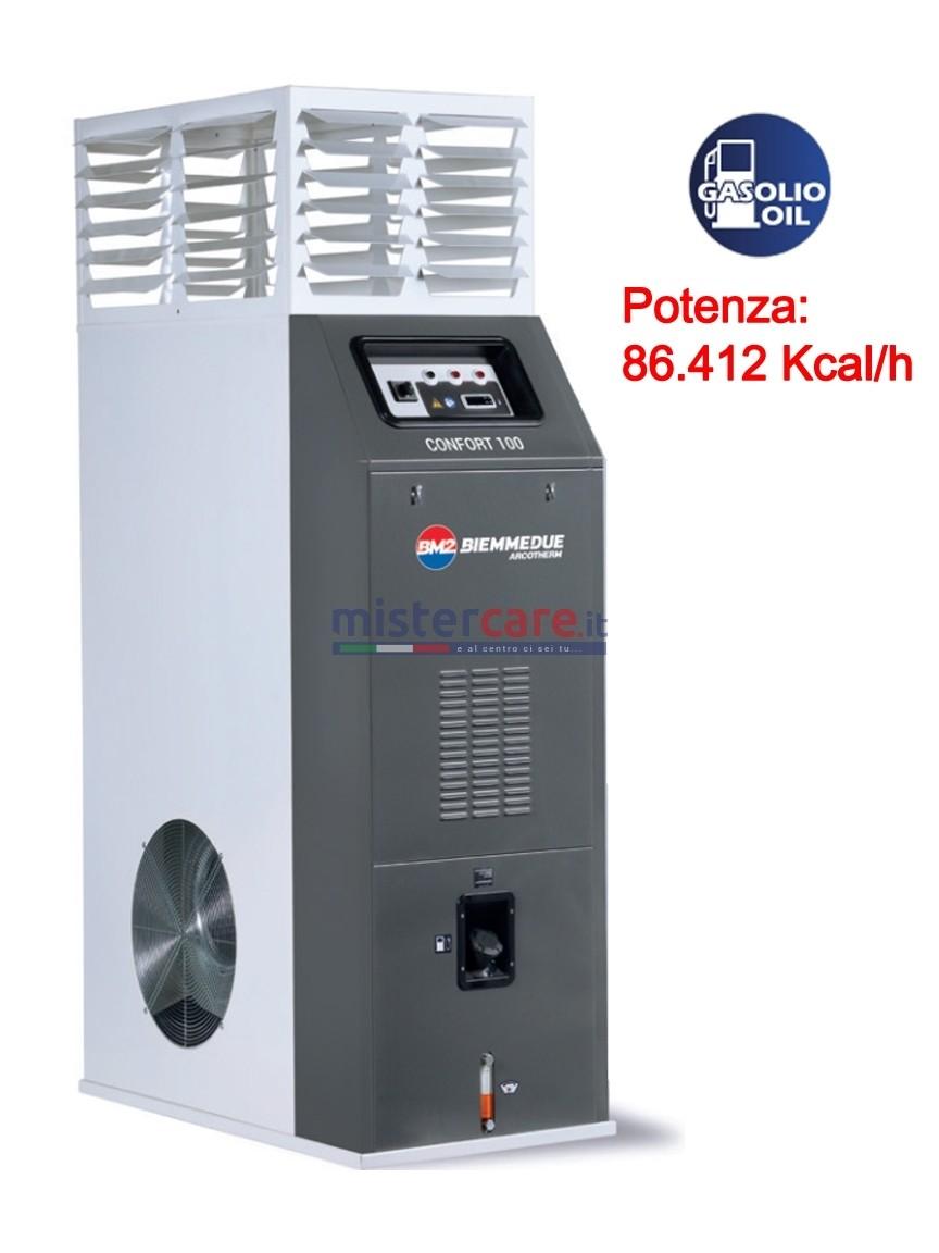 BM2 Confort 100 - Generatore d'aria calda a gasolio con termostato (86.412 Kcal/h)