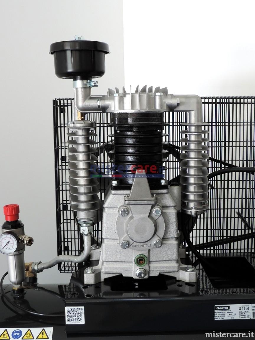 Gruppo pompante con cilindro in ghisa per una lunga durata, controllo visivo del livello dell'olio