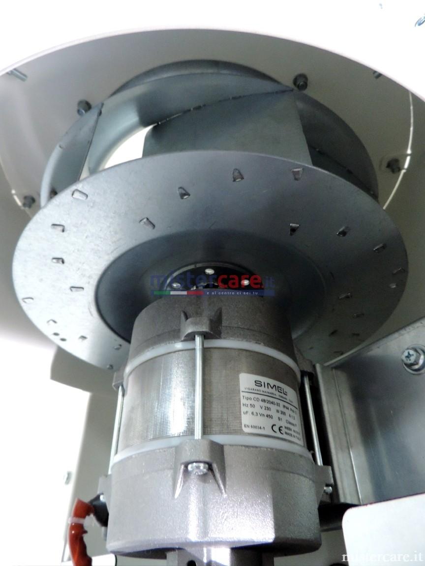 Ventilatore centrifugo per una minore rumorosità