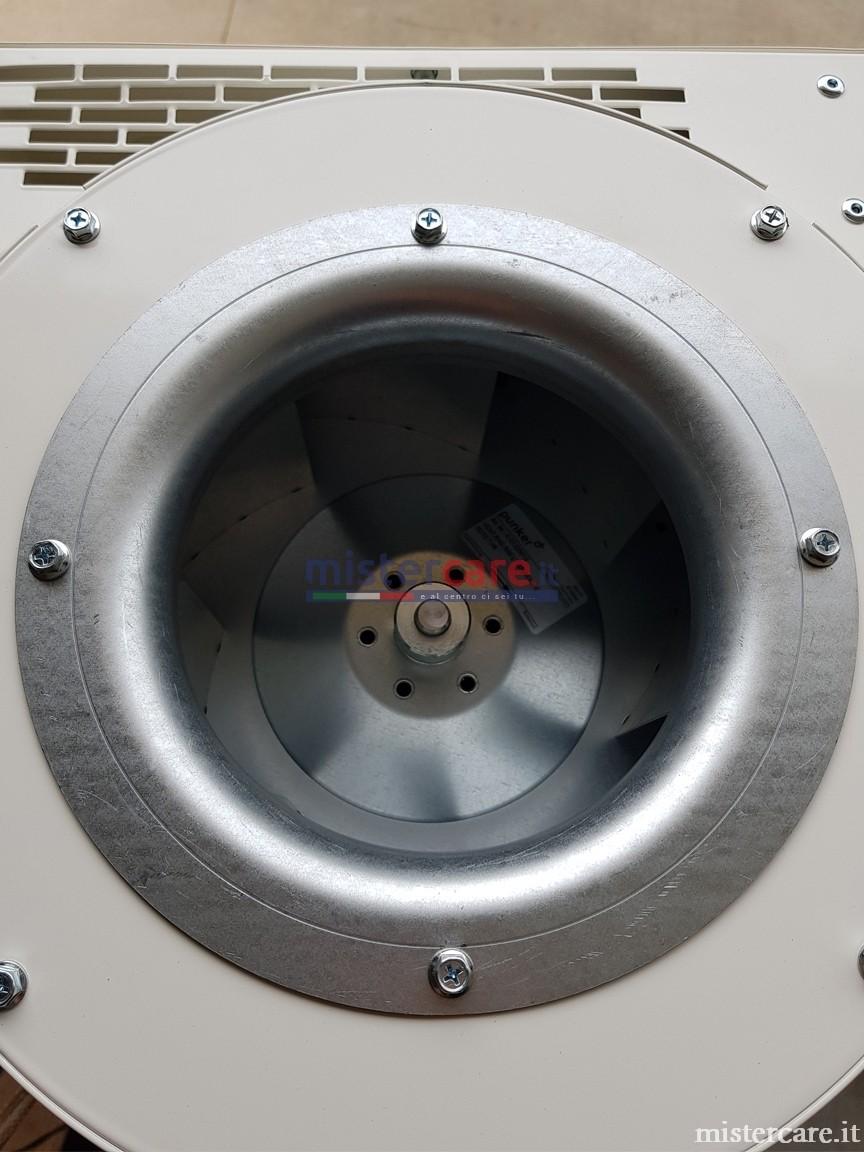 Ventilatore centrifugo per una minore rumorosità: vista dall'alto