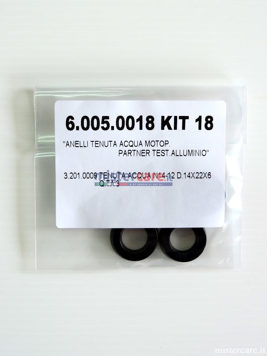 Kit guarnizioni/tenute acqua per idropulitrici Lavorwash (14 x 22 x 6 mm)