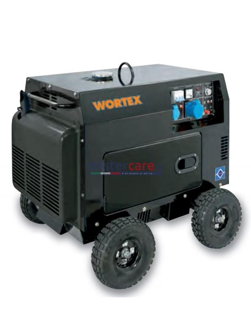 Wortex HW 8000 E - Gruppo elettrogeno monofase silenziato (6 kW) AVR con motore a scoppio (diesel)