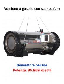 Generatore d'aria calda pensile a combustione indiretta (gasolio) - 85.869 Kcal/h