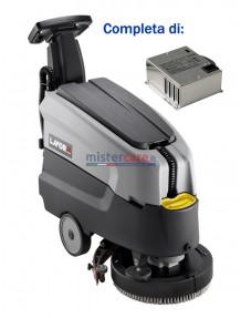 Lavor Dynamic 45 B - Lavasciuga pavimenti batteria 24V, pista di pulizia 45 cm (completa di caricabatteria)