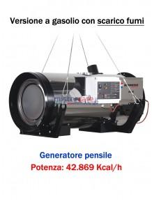 Generatore d'aria calda pensile a combustione indiretta (gasolio) - 42.869 Kcal/h