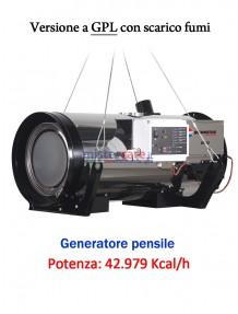BM2 BH 50 GPL - Generatore d'aria calda pensile a combustione indiretta (GPL) - 42.979 Kcal/h