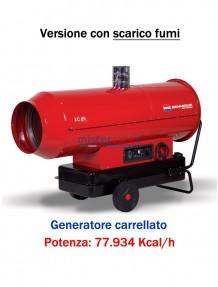 BM2 - EC85 - Generatore d'aria calda a combustione indiretta (carrellato) - 77.934 kcal/h