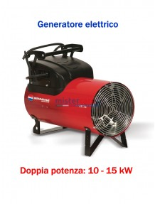 BM2 - EK 15 C - Generatore d'aria calda a corrente elettrica con termostato - 12.900 Kcal/h (10 / 15 kW)