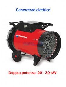 BM2 - EK 30 C - Generatore d'aria calda a corrente elettrica con termostato - 25.818 Kcal/h (20 / 30 kW)