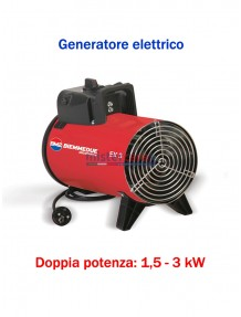 Generatore d'aria calda a corrente elettrica - 2.500 Kcal/h