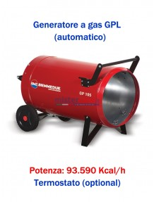 BM2 GP105A - Generatore D'aria Calda A Combustione Diretta (Automatico) - 93.590 Kcal/H