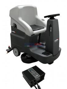 Lavor Comfort XXS - Lavasciuga pavimenti batteria 24V, pista di pulizia 66 cm (trazionata) completa di caricabatterie