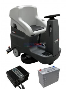 Lavor Comfort XXS - Lavasciuga pavimenti batteria 24V, pista di pulizia 66 cm (trazionata) completa di batterie e caricabatterie