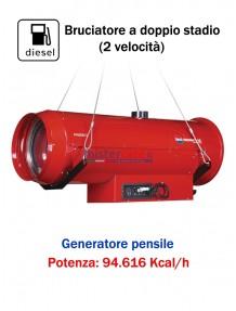 BM2 Phoen/S 110 - Generatore d'aria calda a gasolio a combustione indiretta (pensile) - 94.616 kcal/h
