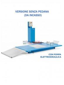 OMCN 196/MS - Ponte sollevatore per moto / Banco di lavoro con pompa elettroidraulica (senza pedana da incasso) - 500 Kg