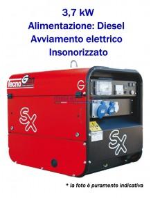 Tecnogen LD5000ESX - Gruppo elettrogeno monofase (230V) diesel (3,7 KW) insonorizzato con avviamento elettrico