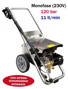 Lavor Hyper Columbia R-Foam 1211 LP - Idropulitrice ad acqua fredda professionale (120 bar - 11 lt/min) con sistema schiumogeno