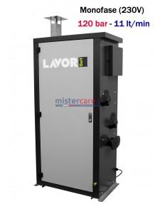 Lavor Hyper HHPV 1211 LP - Idropulitrice professionale ad acqua calda (120 Bar - 11 lt/min) a stazione fissa con bruciatore a gasolio