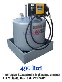Demo - Serbatoio Per Gasolio (490 Litri) con sistema di erogazione CUBE 56 (220V)