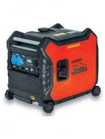 Wortex LW 3500 IW E - Gruppo elettrogeno super-silenziato inverter monofase 230V (3,3 kW) con motore a scoppio (benzina)