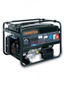 Wortex LW 6500 3-E - Gruppo elettrogeno trifase (5,5 kW) AVR con motore a scoppio (benzina)