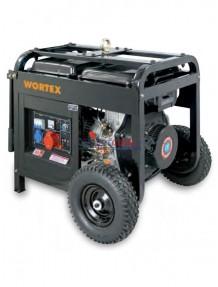 Wortex HW 5500 3E - Gruppo elettrogeno trifase/monofase (4,8 kW - 1,5 kW) AVR con motore a scoppio (diesel)