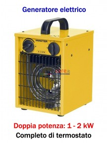 Master B 2 - Generatore d'aria calda elettrico monofase (1 - 2 kW)