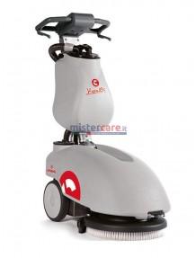 Comac Vispa 35 B - Lavasciuga pavimenti a batteria (12V) con spazzola a disco (35 cm)