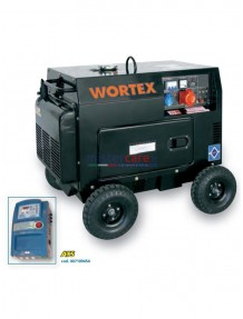Wortex HW 5000 3E ATS - Gruppo elettrogeno trifase/monofase silenziato automatico (4,5 kW - 1,4 kW) AVR con motore a scoppio (diesel)