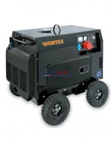 Wortex HW 8000 3E - Gruppo elettrogeno trifase/monofase silenziato (6 kW - 2,5 kW) AVR con motore a scoppio (diesel)