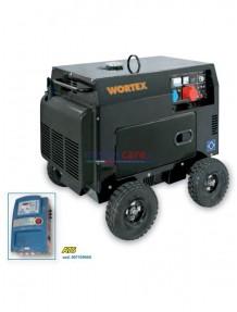 Wortex HW 8000 3E ATS - Gruppo elettrogeno trifase/monofase silenziato automatico (6 kW - 2,5 kW) AVR con motore a scoppio (diesel)