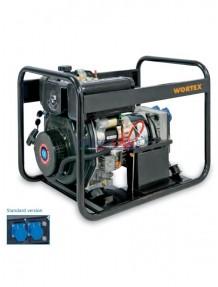 Wortex HWS 4500 E - Gruppo elettrogeno monofase (3,6 kW) con motore a scoppio (diesel)