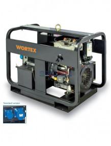 Wortex HWS 12000 E AVR - Gruppo elettrogeno monofase (9,6 kW) AVR con motore a scoppio bicilindrico (diesel)