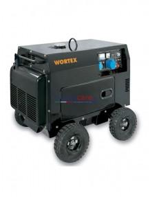 Wortex HW 5000 E - Gruppo elettrogeno monofase silenziato (4,5 kW) con motore a scoppio (diesel)