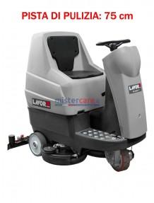 Lavor Comfort XS-R 75 Essential - Lavasciuga pavimenti batteria 24V, pista di pulizia 75 cm (trazionata)