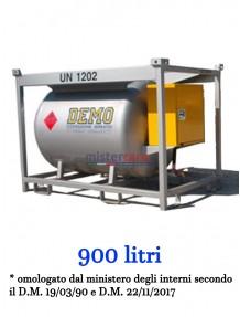 Demo Mobiltank - Serbatoio per gasolio (900 litri) con sistema di erogazione in armadietto