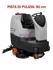 Lavor Comfort S-R 90 - Lavasciuga pavimenti batteria 24V, pista di pulizia 90 cm (trazionata)