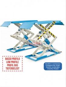 OMCN 723 - Ponte sollevatore elettroidraulico (a basso profilo) a doppia forbice/pantografo (3.200 Kg)