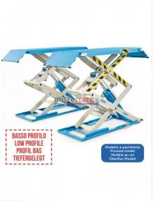 OMCN 722 - Ponte sollevatore elettroidraulico (a basso profilo) a doppia forbice/pantografo (3.200 Kg)