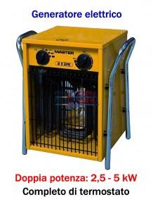 Master B 5 - Generatore d'aria calda elettrico trifase (2,5 - 5 kW)