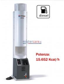 BM2 Vertigo - Generatore d'aria calda silenzioso - 15.652 kcal/h, bruciatore a gasolio