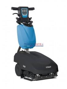 Fimap Genie Bs - Lavasciuga pavimenti a batteria con doppio rullo (33,5 cm) - Completa di batteria al gel + caricabatterie incorporato + rulli