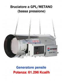 BM2 GA/N 70 C - Generatore d'aria calda (a GPL e metano) in bassa pressione a combustione diretta (pensile) - 60.765 kcal/h
