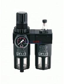 """Fluxo FX3240 - Filtro - Riduttore - Lubrificatore da 1/2"""" con manometro Ø 50"""