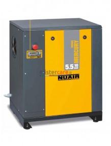 Nuair Mercury Tronic 5.5-10 - Compressore rotativo a vite con trasmissione a cinghia (5,5 Kw - 650 lt/min)