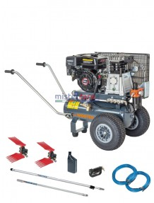 Wortex CB 25-520 Kit Twin - Motocompressore 6.5 Hp completo di aste e abbacchiatori